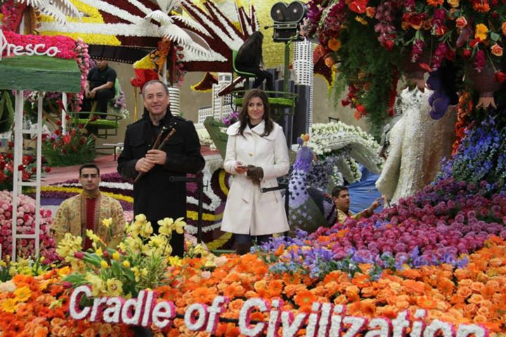 "The ""Cradle of Civilization"" (photo courtesy of Armenian American Rose Float Association)"