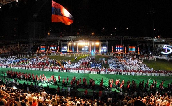 The opening ceremony of the most recent Pan-Armenian Games held in 2011 (Photo: armsport.am)