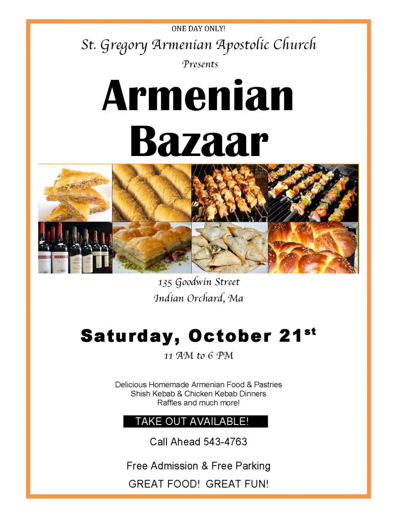 Indian orchard s st gregory s armenian church bazaar to for Armenian national cuisine