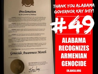 Alabama Becomes 49th U S  State to Recognize the Armenian Genocide